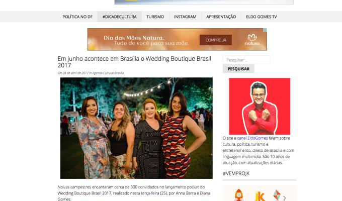 Em junho acontece em Brasília o Wedding Boutique Brasil2017