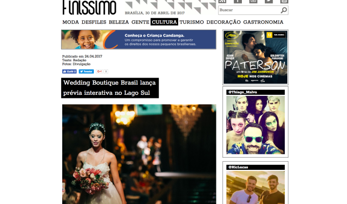 Wedding Boutique Brasil lança  prévia interativa no LagoSul